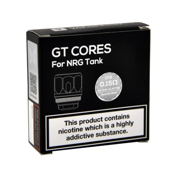 GT Cores for NRG Tank GT8 - 0.15ohm 50-110w Clapton