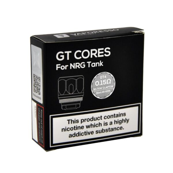 GT Cores for NRG Tank GT4 - 0.15ohm 30-70 Claptop (Pack of 3)