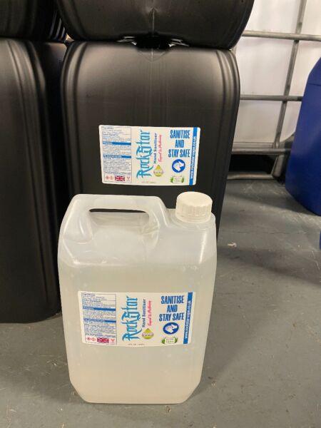 Rockstar Aloe Vera Anti-Bacterial Ethanol Hand Sanitiser 5000ml