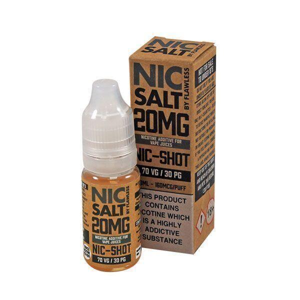 Single Nic Salt Shot by Flawless 10ml 20mg