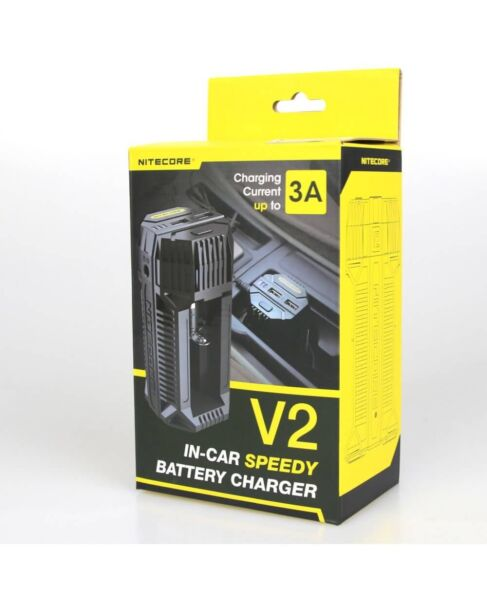 Nitecore V2 3A In Car Speedy Battery Charger